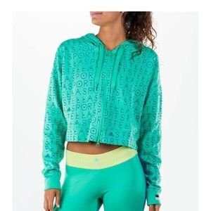 Stella McCartney Adidas Green Zip Hoodie Sz Small